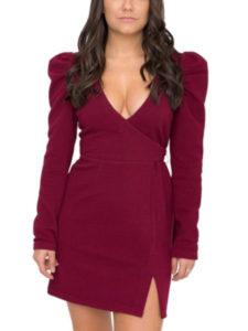 puff sleeves fall dress