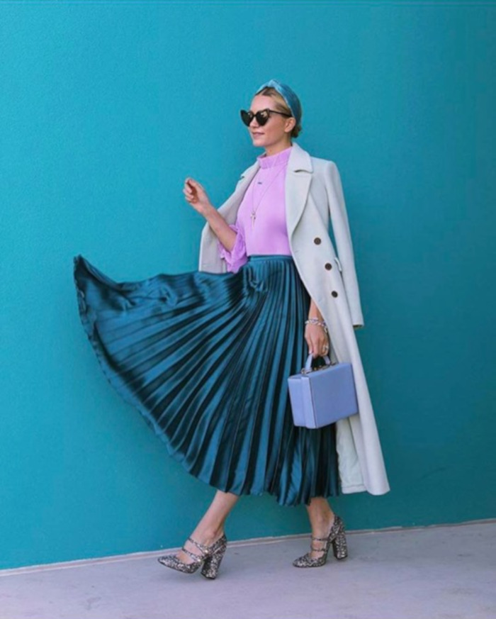 what to wear with lavender outfits