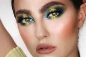 emerald green makeup looks