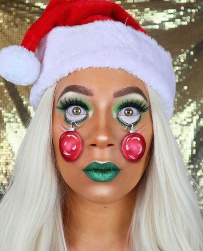 The Most Creative Christmas Makeup Looks On The Internet Fashionisers C