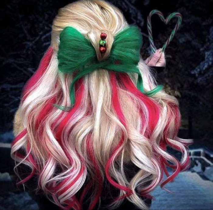over the top christmas hairstyles