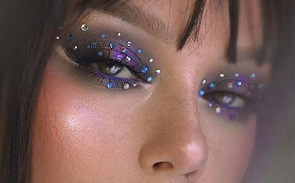 Rhinestone Makeup Trend
