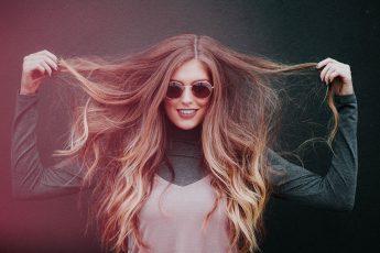 greasy long hair