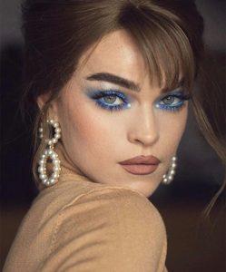 seductive blue makeup