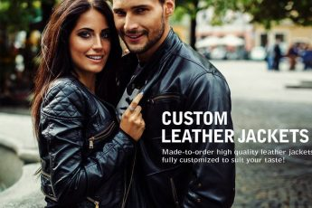 a couple in leather jackets