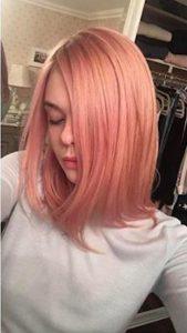 celebrity rose gold hair color trend