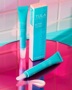 Tula-Skincare-Products-on-Pink-Table