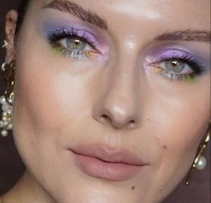 instagram makeup trends to try in real life - lavender makeup