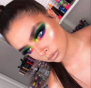 instagram makeup trends to try in real life - rainbow makeup