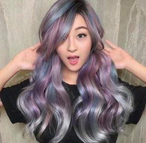 multicolored neon hair