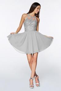 Designer Knee-length A-Line Bridesmaid Dresses with Halter, Sweetheart and V-Necklines