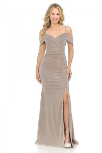Off-shoulder Thigh Slit Trumpet Dresses