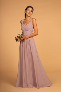 Pleated Chiffon A-line Dresses with Sweetheart and Off-shoulder Necklines