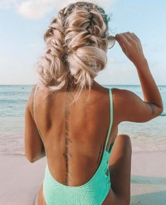 beach hairstyles beach updo ideas