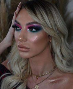 color block makeup looks