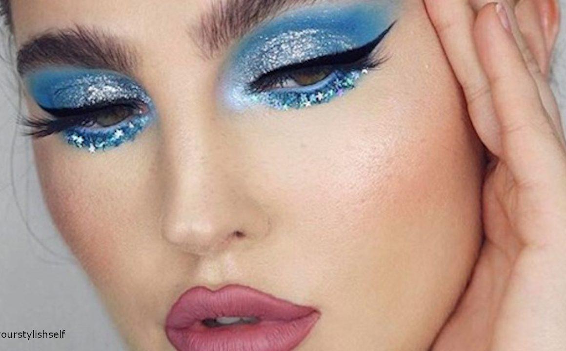 Neon Blue Makeup Looks