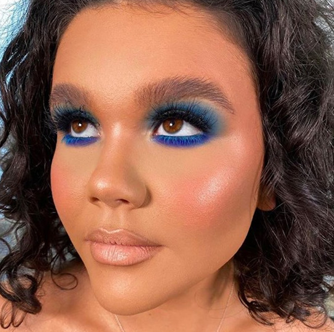 neon blue makeup looks
