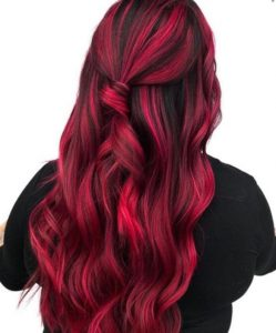 red and black hair color ideas