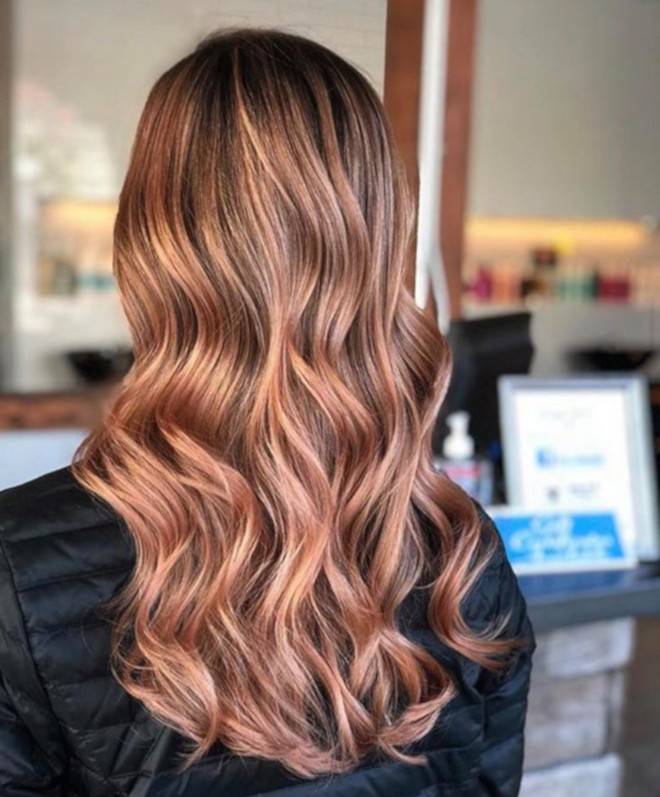 rose gold balayage & rose gold ombre ideas