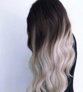 silver and black hair color ideas
