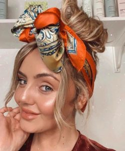 how to create chic beach hairstyles with headscarves