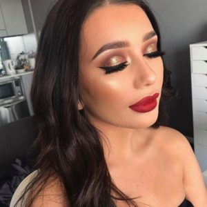 rose gold makeup for summer
