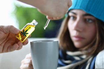 Husband adds marijuana oil extract to sick wife in tea.