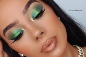 Tropical Emerald Green Makeup Looks For Summer