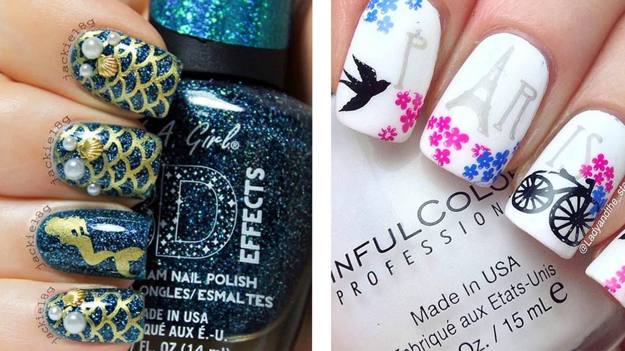 Instagram Inspired 10 Smashing Nail Art Designs For Long Nails Fashionisers C Part 5