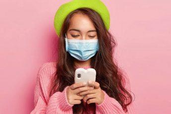 lets-talk-masks-coronavirus-pandemic-mask-fashion-cute-girl-on-phone-in-mask