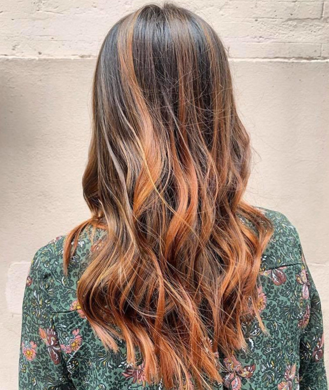 golden brunette hair color ideas for fall