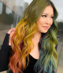 bold hair colors for fall