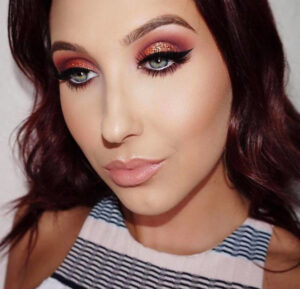 copper makeup looks for fall