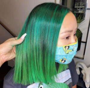 evergreen hair color trend for fall