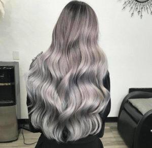 titanium silver hair color trend