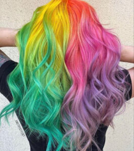 which fall hair color to try based on your zodiac sign - gemini multicolored hair