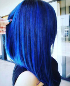 which fall hair color to try based on your zodiac sign - pisces classic blue hair