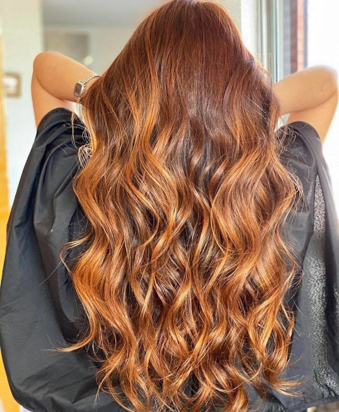 all the trending warm hair colors for fall