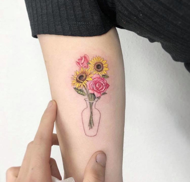 brighten up your life with these gorgeous color tattoos