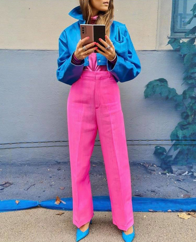 how to style fall pink outfits like a fashionista