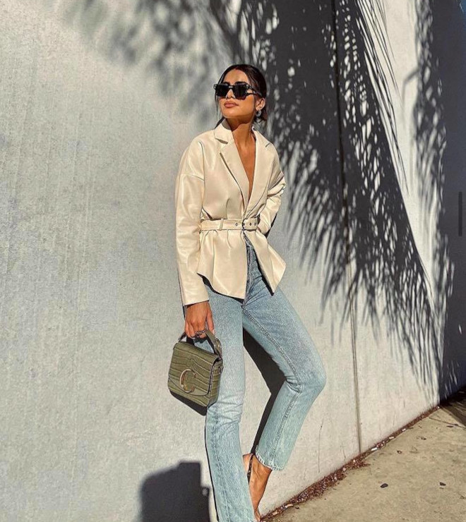 try the metallic fashion trend