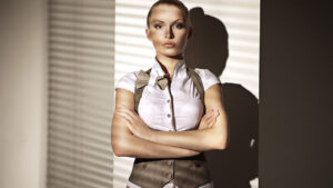 woman-wearing-fitted-suit-vest-waistcoat