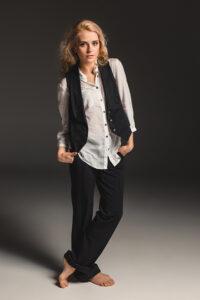 woman-wearing-loose-suit-vest-waistcoat