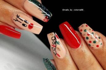 Festive Glitter Nails