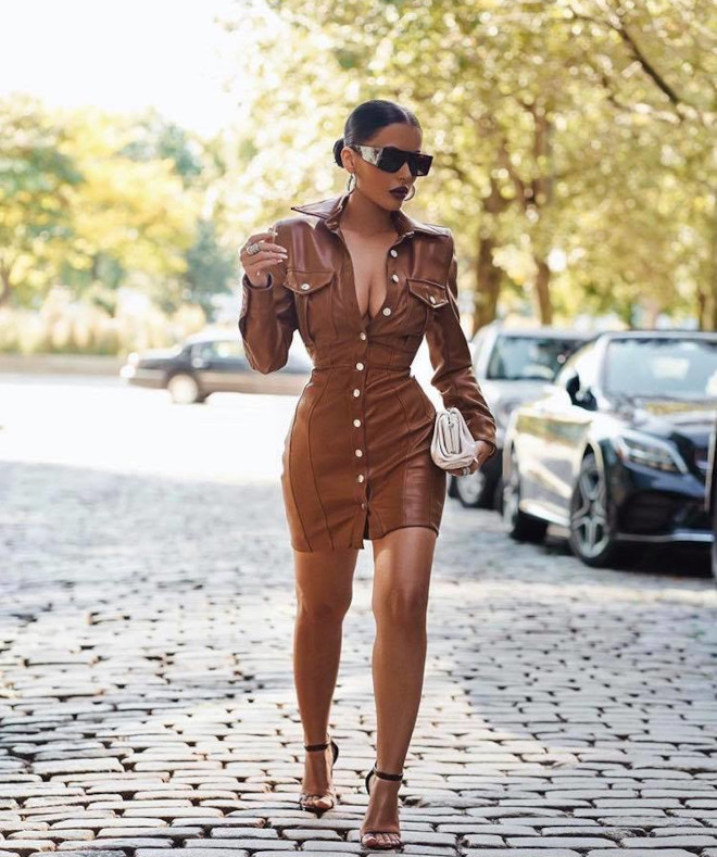 trend alert - how to style winning faux leather outfits for a lavish look