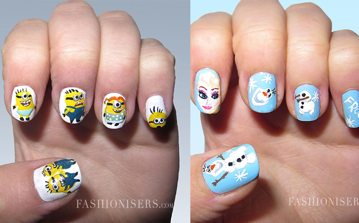 Frozen_cartoon_inspired_nail_art_designs_fashionisers_minions_main