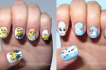 Frozen_cartoon_inspired_nail_art_designs_fashionisers_minions_main