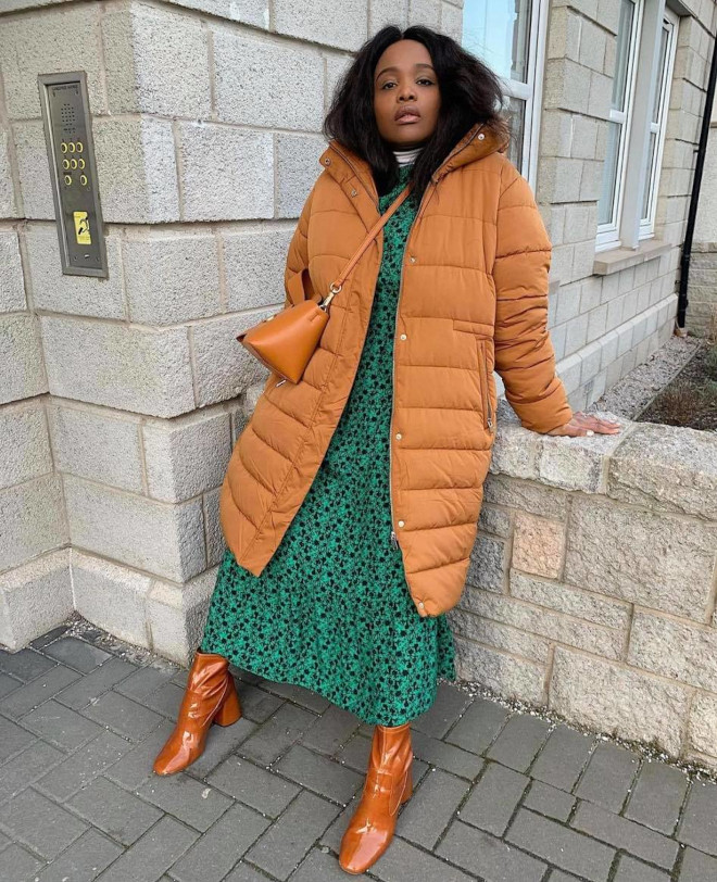how style icons wear trending duvet coat outfits