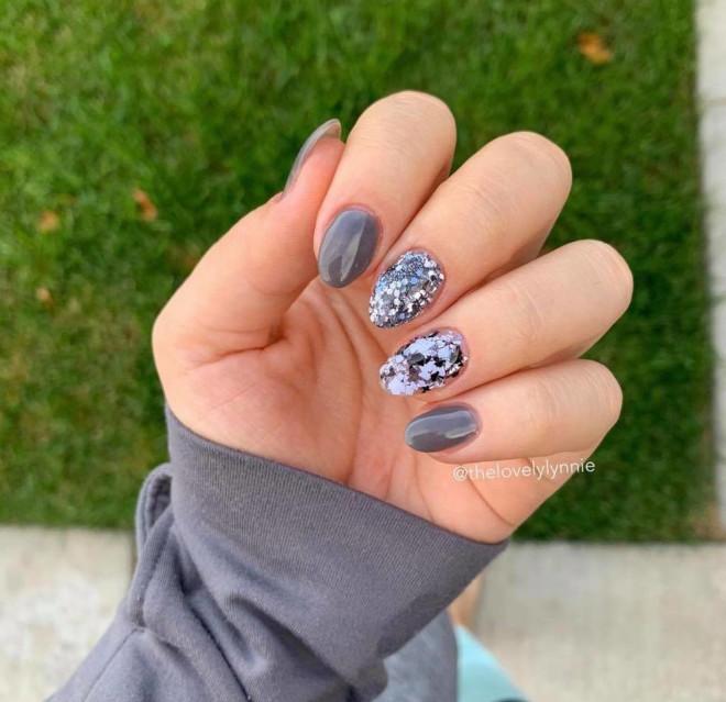 pantone inspired 2021 ultimate gray nail designs