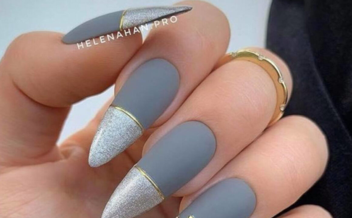 Pantone Inspired 2021 Ultimate Gray Nail Designs
